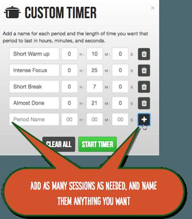 marinara-custom-timer